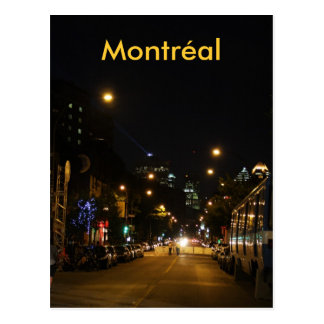 Montreal Latin Quarter Rue St Denis Postcard