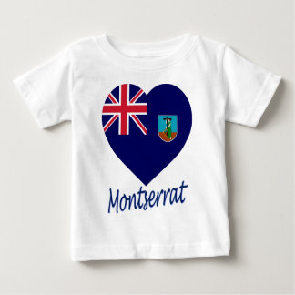 Montserrat Flag Heart Baby T-Shirt
