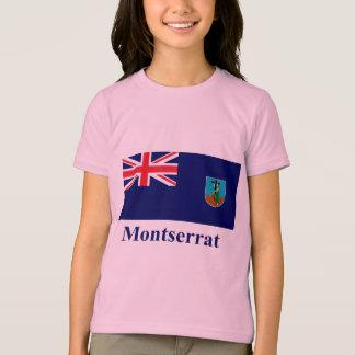 Montserrat Flag with Name T-Shirt