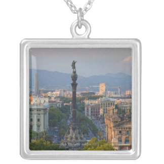 Monument a Colom Silver Plated Necklace