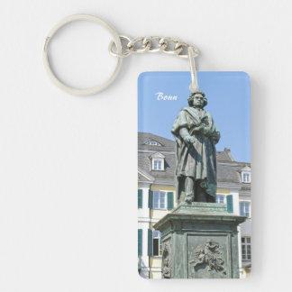 Monument of Ludwig van Beethoven in Bonn Single-Sided Rectangular Acrylic Key Ring