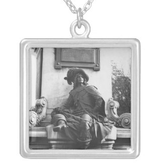 Monument to Alexandre Dumas Pere, d'Artagnan Silver Plated Necklace