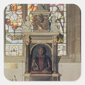 Monument to William Shakespeare  c.1616-23 Square Sticker