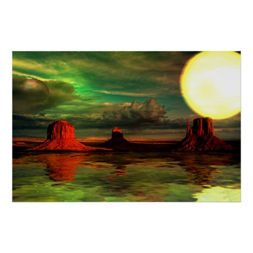 Monument Valley-1-Sunset Posters