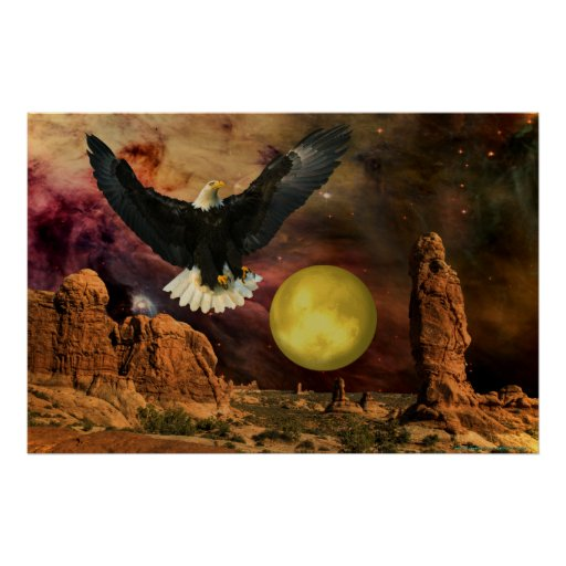 Monument Valley-4-W-Eagle-Moon Posters