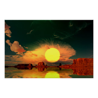 Monument-Valley-Sunrise-2 Poster