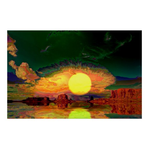 Monument-Valley-Sunrise=Abstract3 Print
