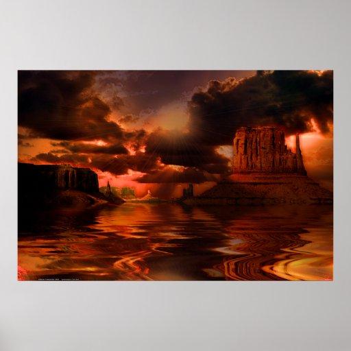 Monument-Valley-Sunrise-Sunburst-SET-4 Print