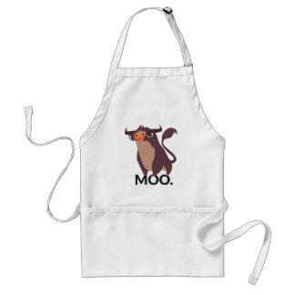 Moo, mean cow design standard apron