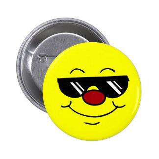 Moody Smiley Face Grumpey 6 Cm Round Badge