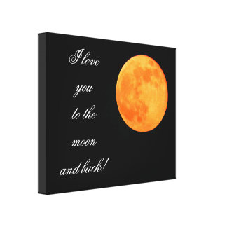 Moon and Back - Canvas Art Gallery Wrapped Canvas