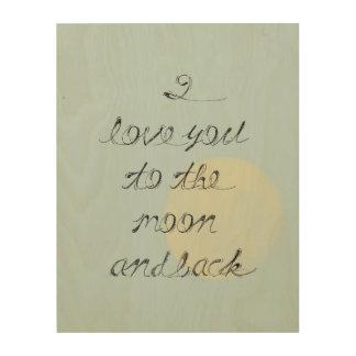 Moon and Back Wood Prints