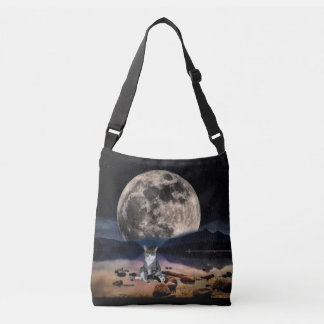 Moon and Cat Cross Body Bag