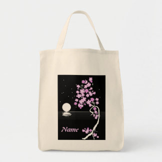 """Moon and Flowers"" Tote"