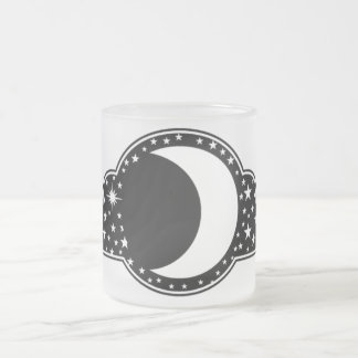 Moon and Stars Frosted Glass Mug