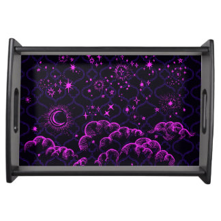 """Moon and Stars"" Serving Tray (PK/BLK/PUR)"
