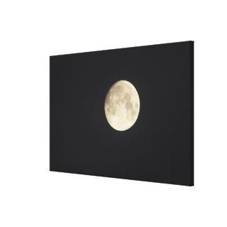 Moon at night gallery wrapped canvas