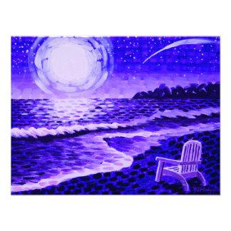 Moon Beach in purple Photograph