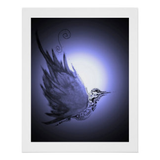 Moon Bird Print