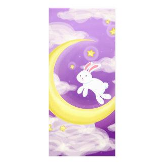 Moon Bunny Purple Full Color Rack Card
