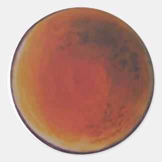 Moon Classic Round Sticker