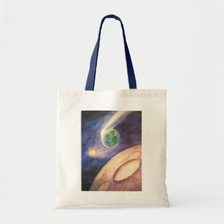 Moon, Comet, Earth, Sun Tote Bag