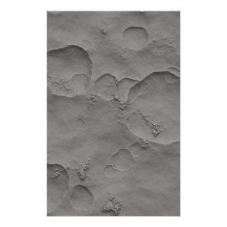 Moon Craters, Lunar Surface Customized Stationery