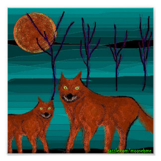 Moon dogs 9x9 poster