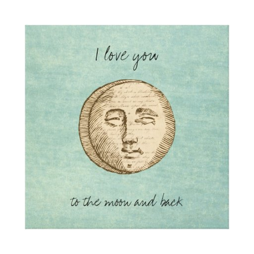 Moon Face Stretched Canvas Prints