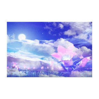 Moon Flower Canvas Prints