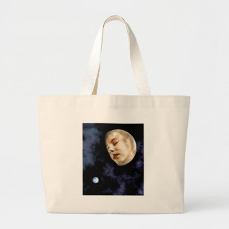 moon goddess large tote bag