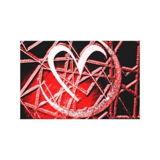 Moon Heart Shadow Canvas Prints