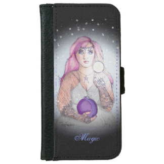 Moon in a Bottle Witch Wiccan Pagan iPhone 6 Wallet Case