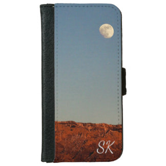 Moon Over Sandias With Text iPhone 6 Wallet Case