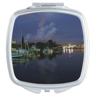 Moon Over Treasure Island Travel Mirror