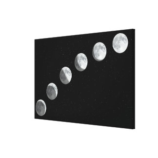 Moon phases canvas prints