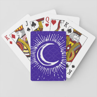 """""""Moon"""" Playing Cards (WH/BLU/PUR)"""