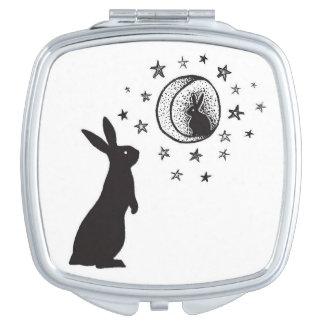 Moon Rabbit - compact mirror