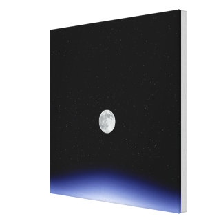 Moon rise over Earth Stretched Canvas Prints