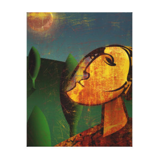 Moon Shining in the Sky Canvas Print