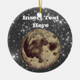 Moon Space Astronomy Christmas Ornament