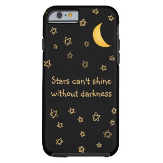 Moon & stars night pattern custom tough iPhone 6 case