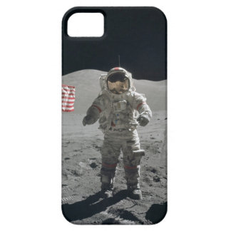 Moon walk astronaut in outer space photo, gift barely there iPhone 5 case