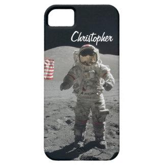 Moon walk astronaut space custom boys name iPhone 5 case