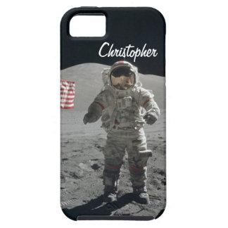 Moon walk astronaut space custom boys name iPhone 5 cover