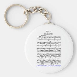 Moonlight-Sonata-Ludwig-Beethoven Key Ring