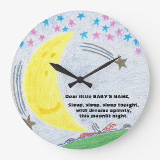 Moonlit Dreams Baby Nursery Clock