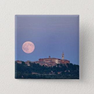 Moonrise over Pienza 15 Cm Square Badge