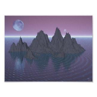 Moons and Islands Poster