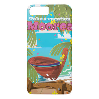 Moorea French Polynesia Holiday travel poster iPhone 8 Plus/7 Plus Case
